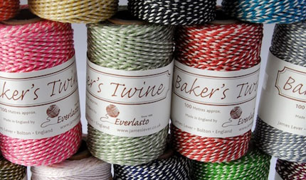 Bakers strings in a wide range of colours