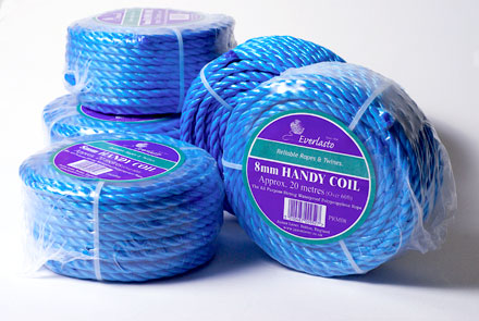 blue poly rope handy coils