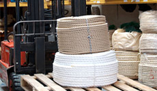 rope manufacturers and suppliers rope on forklift ready for dispatch